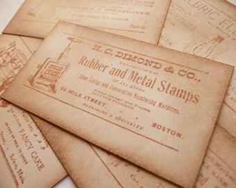 Vintage Style Cigarette Cards - Ephemera Ideal for your Scrapbooking, Journalling, Wedding Stationery - Set of 6