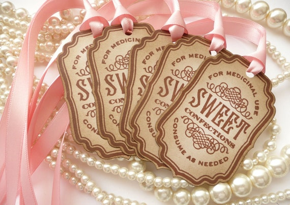 Pink Candy Buffet, Wedding Favors, Wedding Favor Tags, Candy Buffet Tags, Bachelorette Party Favors, Gift Tags, Candy Buffet Labels, Code S1