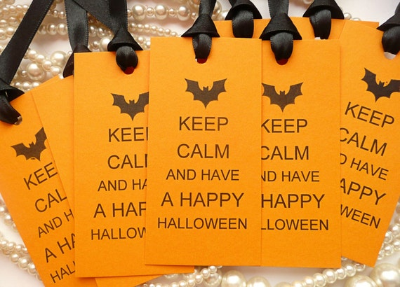 SALE Gift Tags, Bargain Price, Keep Calm Tags, Halloween Favors, Bargain Tags, Party Favors, Treat Bag Tags