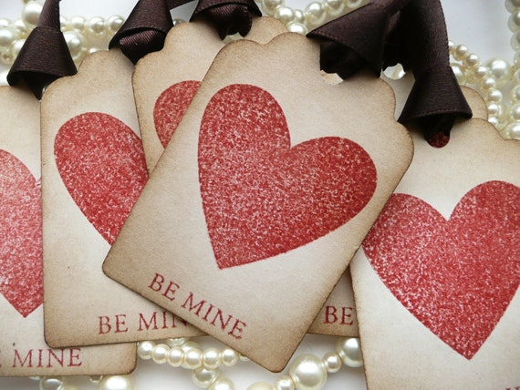 Be Mine Gift Tags, Valentine Gift Tags, Wedding Favor Tags, Gift Wrap, Boyfriend, Love