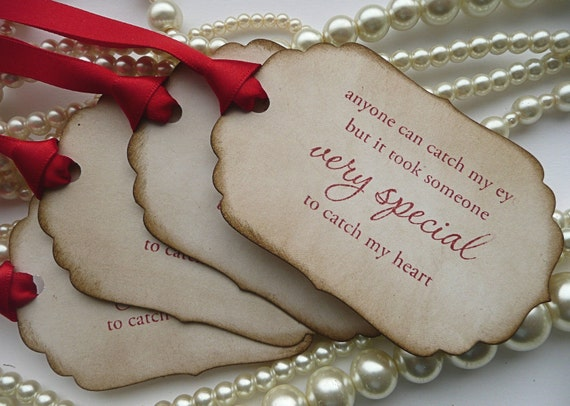 Valentines Day Gift Tags, Valentines Day Gift For Him, Wedding Favors, Romantic Quote Tags, Someone Special Tags, Vintage Wedding Gift Tags