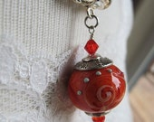Orange Julius - Artisan Lampwork and Fine Silver