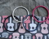 Gray Linen Ring Sling- Pink Groovy Guitars