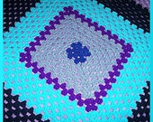 Crochet Afghan, Blueberry Pie
