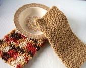 Crocheted Dishcloths, Earthtones