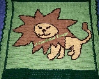 Crochet Baby Afghan, Lion