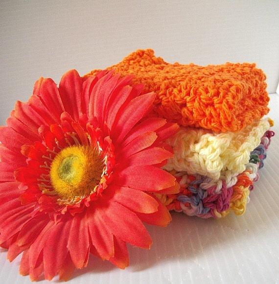 Crochet Dishcloths, Citrus Brights