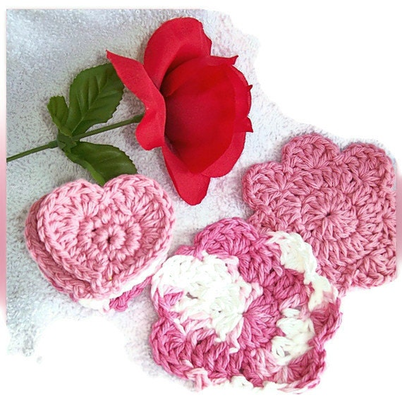 Face Scrubbies, Hearts and Flowers