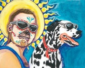 Bradley Nowell and lou dog from sublime original day of the dead print