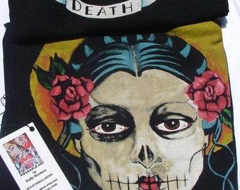 day of the dead girl women's med shirt
