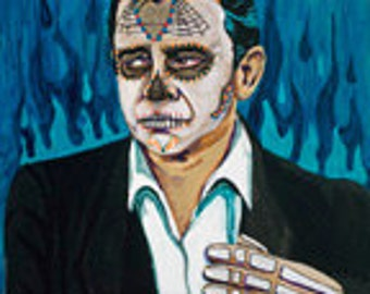 Jonny Cash day of the dead print
