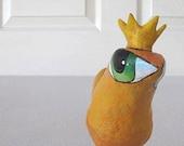 Art Sculpture - Paper Mache - Olivia - A Big Eyed Bird