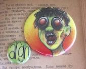 Zombie 2 Pin Back Button Set