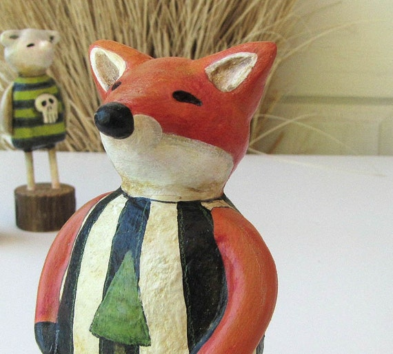 Art Sculpture - Paper Mache - Dexter the Sly Fox