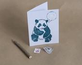 PANDA and RAINCLOUD CARD, handmade by BoxEleven