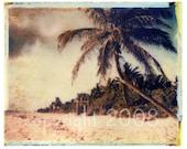 Polaroid transfer - Mexican Beach