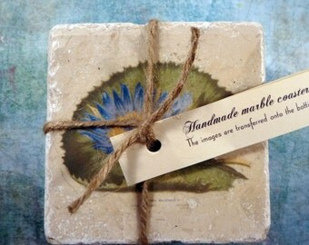 Marble coasters - Vintage lily pads