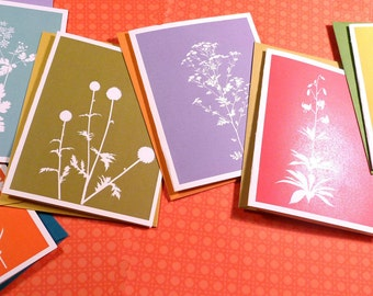 Spring floral silhouette cards 2012