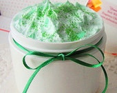 IRISH Clover  GREEN - Minty Organic Sugar Whip-or Poppy Seed or Light Pumice--or Whipped Shaving Soap  Peppermint Body Polish -Foaming Soap
