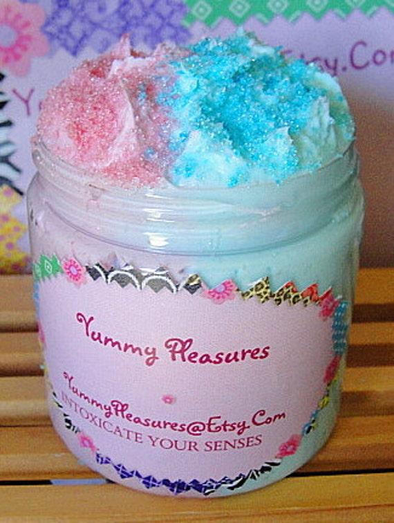 Sugar SCRUB  Body Polish Whips-   Wild BERRY-Fresh SWEET Strawberry  Combo Fluffy Whipped Soap