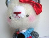 ALICE IN WONDERLAND with Cheshire Cat---amigurumi bear