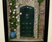 "Rose Manor Miniature Dollhouse Wall Hanging Roombox Scene 1"" scale"