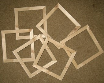 8x8 picture frames (6) unfinished wood