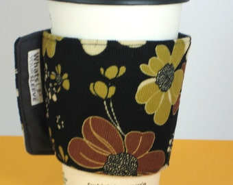 Whats Up Your Sleeve Fabric Coffee Sleeve Corduroy Flowers