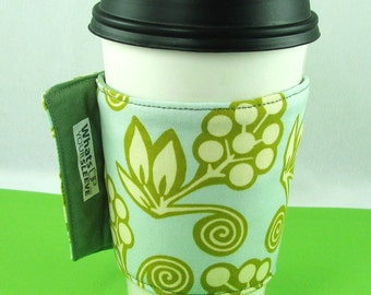 Whats Up Your Sleeve Cloth Fabric Reusable Insulated Coffee Sleeve Pretty Fabric