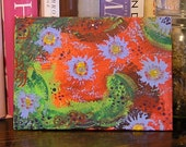 sale - Original 5x7 Painting - Bursting Watermelons