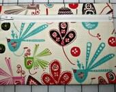 Handmade Zippered Clutch Bag - Paisley and Bird