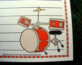 Personalized Drummer Rock n Roll Notepad, Drummer Notepad, Drummer Gift, Musician Gift