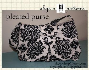 PATTERN-pleated purse