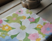 """1 Yard Vintage Fabric -  Colorful Floral - 40"""" x 36"""""""