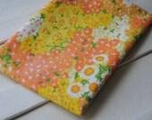 1 Yard Vintage Fabric - Orange and Yellow