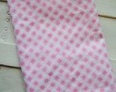 1/2 Yard Vintage Pink Gingham Fabric