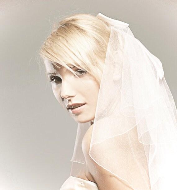 Bridal Illusion Tulle with Matching Silk Taffeta Bow.