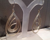 Sale Gold Feather Hanging Earrings