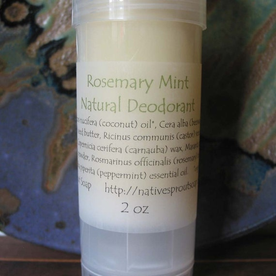 Reserved for Lauren- Rosemary Mint Deodorant 2 ounce --Natural and Effective--