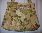 Summer Flowers Hobo Bag with Bow