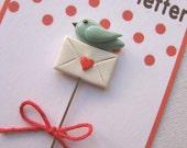 Birdie Love Letter Pin Topper