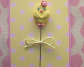 Spring Chicken Pin Topper