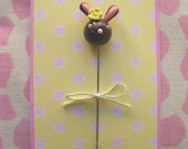 Chocolate Easter Bunny Pin Topper