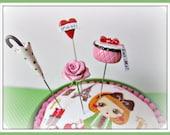 I Love Paris in the Springtime Pin Topper Set