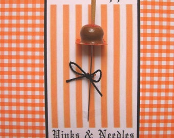 Halloween Caramel Apple Pin Topper