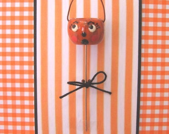 Halloween Vintage Pumpkin Pin Topper