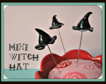 Mini Witch Hat Pin Topper