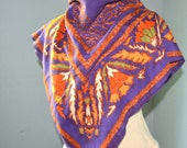 cotton scarf abstract ethnic made in Italy