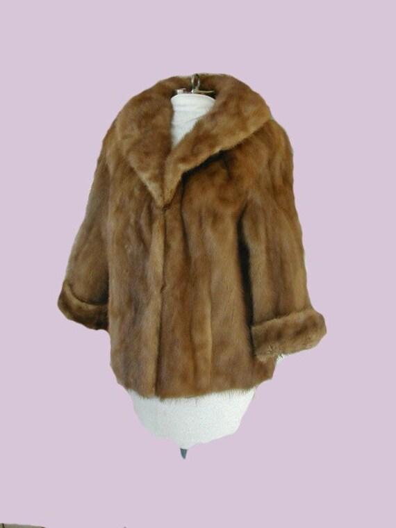 Black Friday Sale Vintage 60s Mink Fur Jacket Short Coat