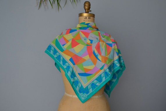 vintage Chloe silk scarf shawl french